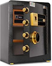 Wall Safes in-Wall Home Safe Intelligent Anti-Theft Alarm Safe Deposit Box Multiple Opening Methods Office Fingerprint Pas...