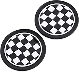 2pcs/set 73mm Soft Silicone Cup Holder Car Coasters For BMW MINI Cooper R55 R56