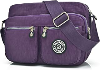 Travel Essential, Stylish and Durable Children Light Travel Waterproof Handbag 20x10x25cm (Color : Purple, Size : 20x10x25cm)
