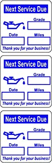 500 2x2 Blue, Black, Green, Red Oil Change Labels Stickers (Oil Can)