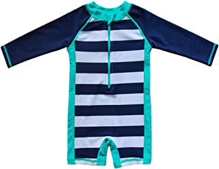 Baby Beach One-Piece Swimsuit UPF 50+ -Sun Protective Sunsuit,Blue 0/3M