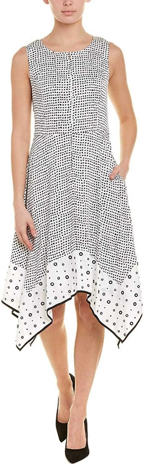 women Karan Womens Electric Summer KneeLength Polka Dot Party Dress