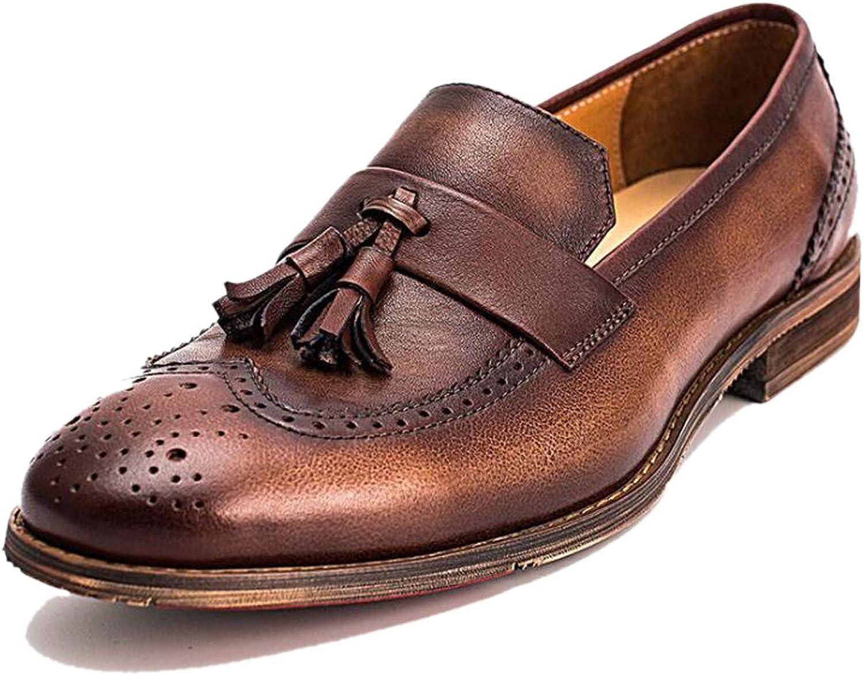 Körförmåga ljus bilved No Closure herrar läder skor British British British Brock svart bspringaaa Handgjort  köp varumärke