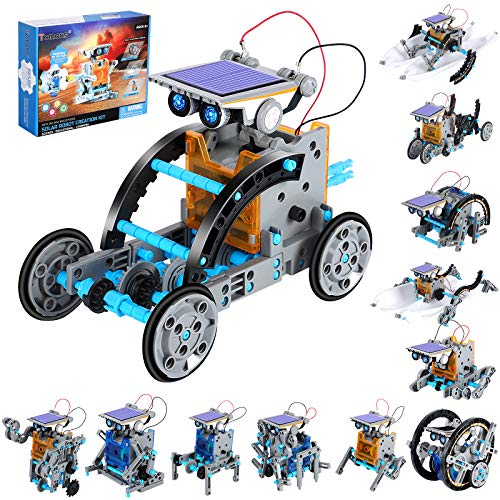 Tomons STEM Projects | 12-in-1 Solar Robot Toys, Education Science Experiment Kits for Kids Ages 8-12, 190 Pieces Building Set for Boys Girls