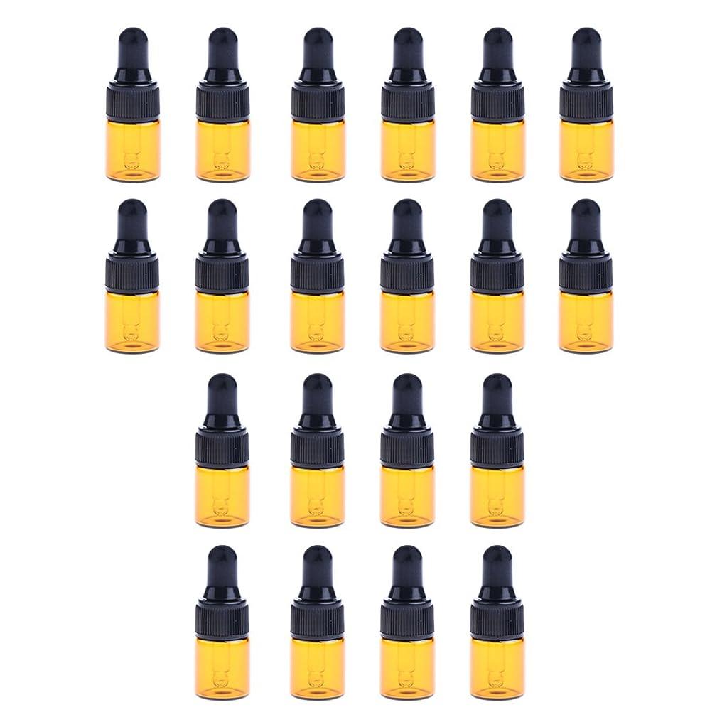 理論的期待粘り強いBaoblaze 約20個 ガラスボトル スポイトボトル 詰替え オイル 香水 ミニサイズ 旅行用 ガラス瓶 研究室 3サイズ選べる - 2ML
