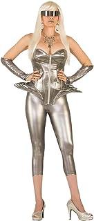 Forum Women's Molten Metal Corset Top, Standard, Silver