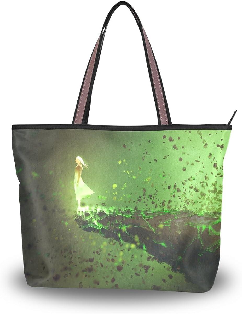 JSTEL Women Large Tote Top Handle Shoulder Bags Woman Patern Ladies Handbag