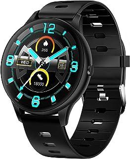 Anself K21 Akıllı kol saati Spor kol saati 1.3 İnç IPS Ekran BT5.0 Fitness Takipçisi IP68 Su Geçirmez Uyku /// Sıcaklık Mo...
