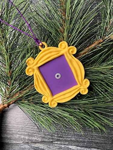 Friends TV Show Merchandise/Friends Frame Christmas Ornament/Monica Peephole Frame/Yellow Friends Frame/TV Show Gift