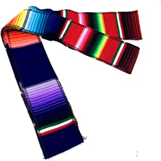 Mexican Belt sash 84 X 2 inches TRICOLOR each Mexican Fiesta coco theme party DAY OF THE DEAD head band table decor