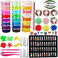 104-Pack Pozean Slime Glitters Fishbowl Beads Kit