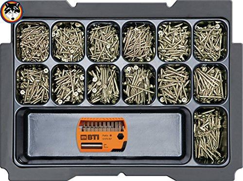 BTI Box 2 + DoTec Holzschraube 2.0 Seko gelb TX Schrauben