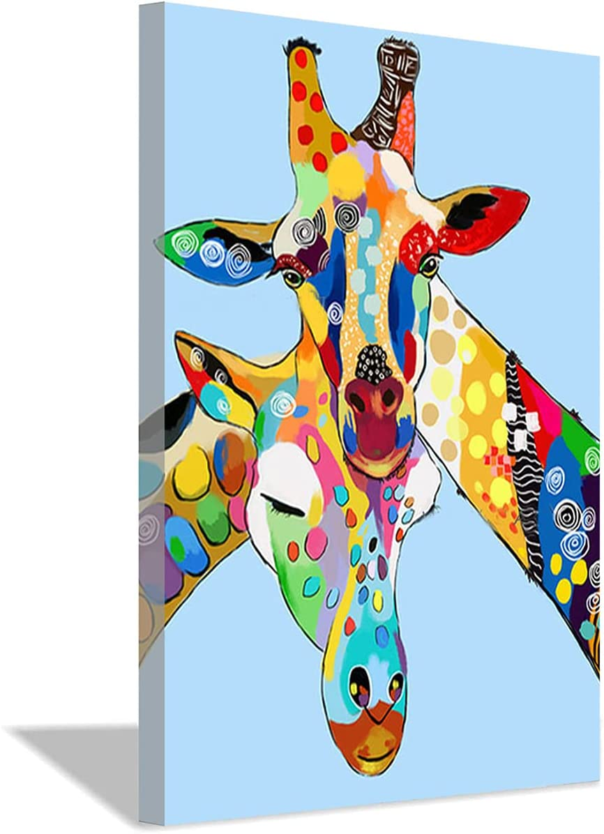 Miss Cora Painted Abstract Oil Canvas Painting San Francisco Mall Ani Colorful Ranking TOP19 Deer