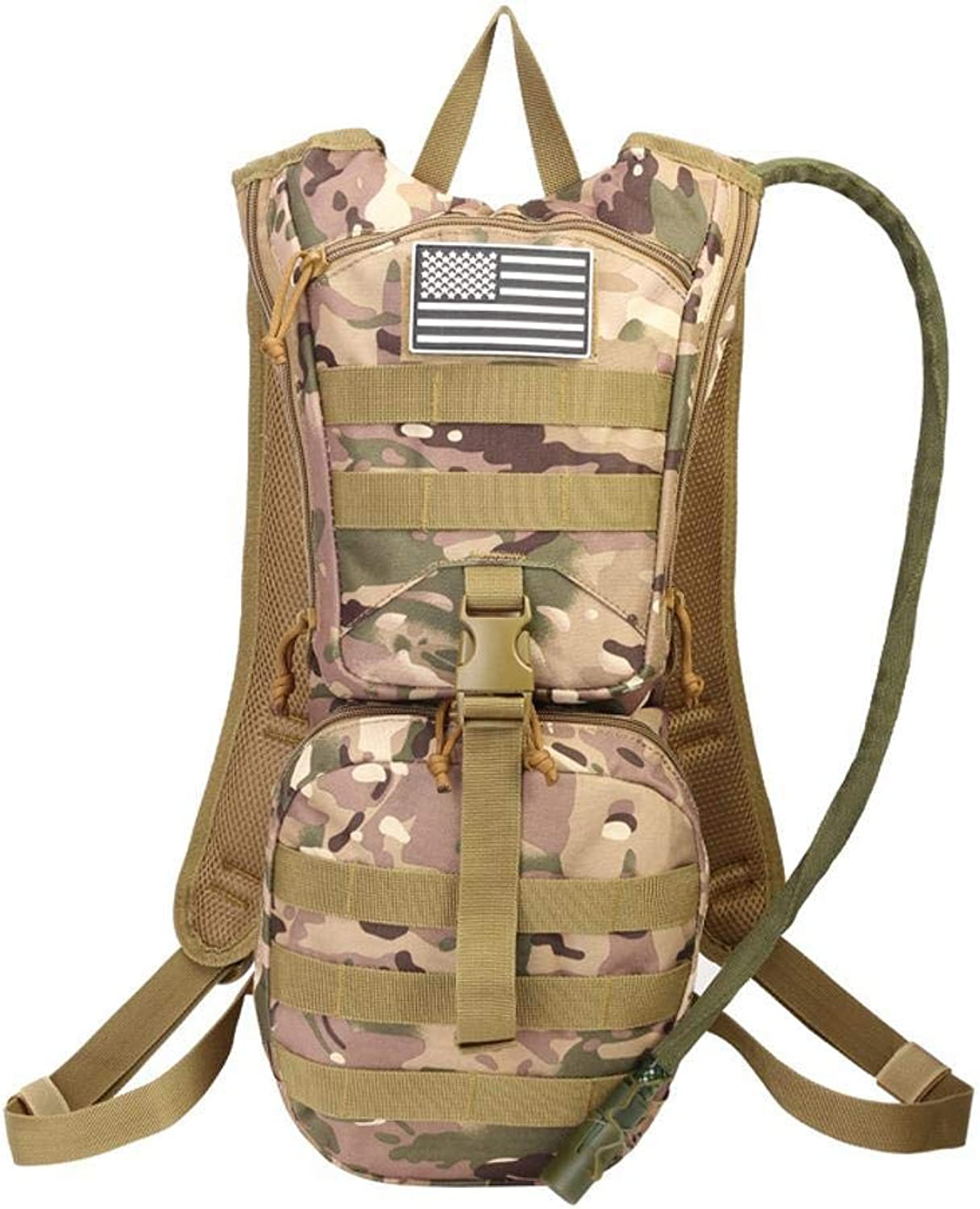 AnSuu Sports Backpack Outdoor Camouflage Tactical Water Bag Backpack Large Capacity Mountaineering Cycling Backpack Camping Trekking Kit