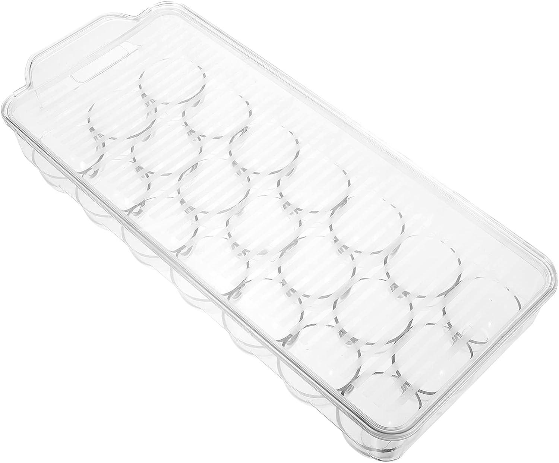 VOSAREA Refrigerator Egg Box 21 Grid Egg Trays Egg Storage Holde