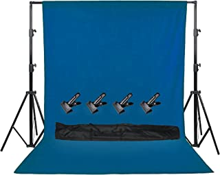 COOPIC S06 2.8 X 3.2 meters Heavy Duty Adjustable Backdrop Support System Photography Studio Video Stand with 4 Heavy Clam...