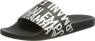 Emporio Armani Men's Swimwear Slipper Glazed Metal Slide Sandal