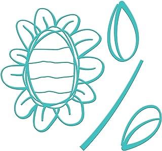 Spellbinders JDD-039 Jane Davenport Sunflower Journal Etched/Wafer Thin Dies, Teal