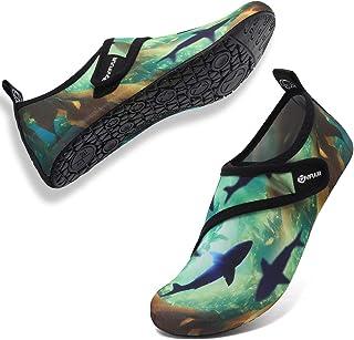 VIFUUR Zapatos de Agua Aqua Yoga para Mujer Hombre Barefoot del Aqua Calcetines de Yoga para la Playa al Aire Libre Surf