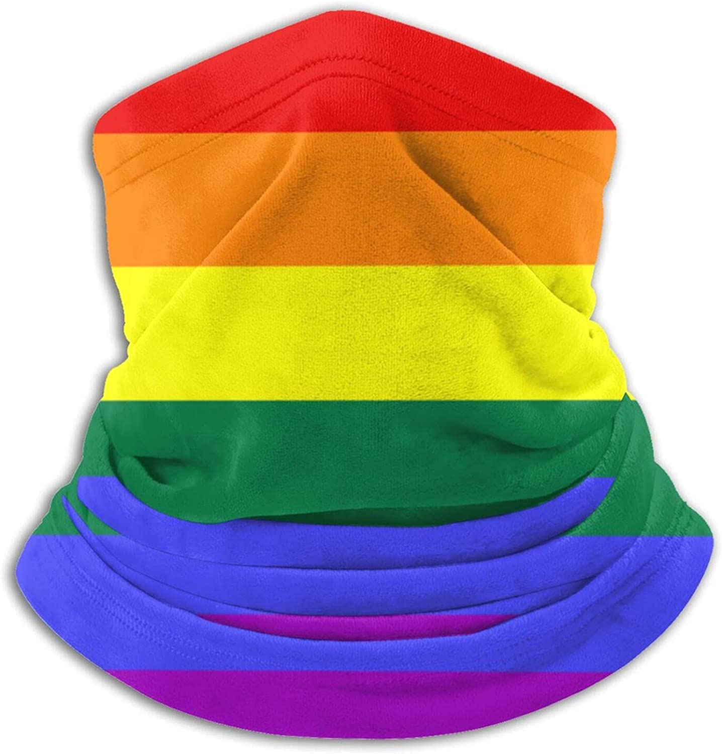 Gay pride parade unisex winter neck gaiter face cover mask, windproof balaclava scarf for fishing, running & hiking