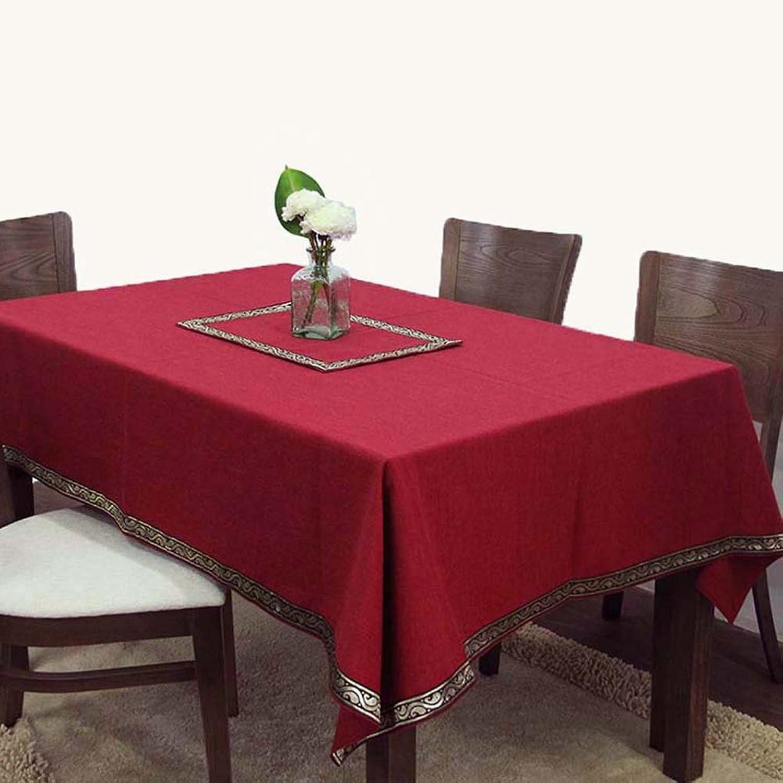 punto de venta JIANFEI Mantel Rectangular Gama Alta Color sólido propicio, Durable, Rojo Rojo Rojo Oscuro, 7 tamaos Opcionales (Tamao   110  160cm)  bajo precio del 40%