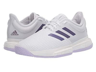 adidas SoleCourt (Footwear White/Tech Purple/Legacy Purple) Women