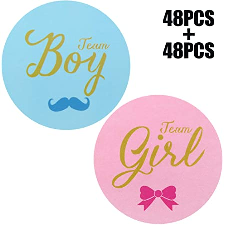 cones or envelopes It/'s A Girl Baby Reveal Sticker for Party Favour Gift Bags