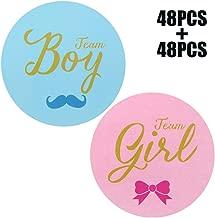 Original Design 96PCS Team boy and Team Girl Baby Shower Sticker Labels,2 Inch Gender Reveal Stickers for Baby Shower Favor