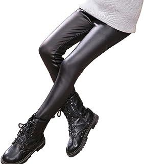Leggings Stretch Pantaloni Ricamo Bambina 3-8 Anni per Bambini Ragazza