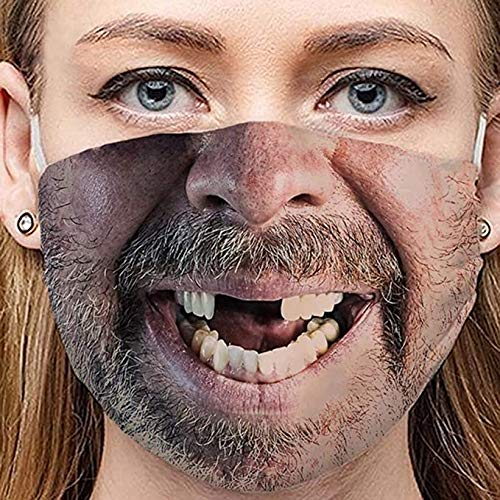 Washable Funny Face Mask Gag Gift