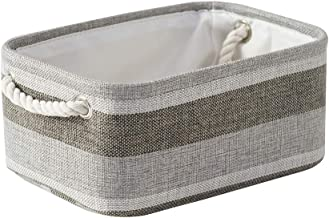 Locipe Small Storage Basket Fabric Storage Baskets for Organizing,Collapsible Storage Bin Set Empty Gift Basket with Rope ...