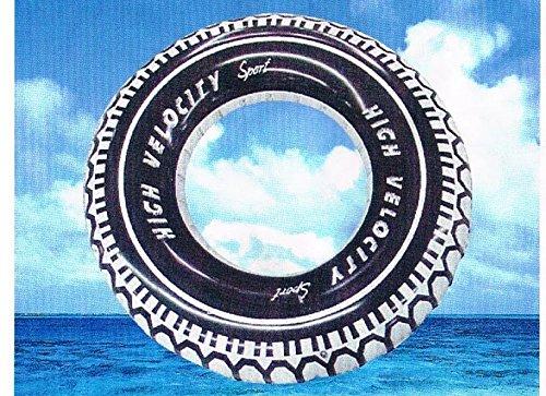 Sachsen Versand Schwimmring Schwimmreifen Wasser-Bade-Spielzeug Aufblasring Schwimmhilfe Autoreifen 90 cm