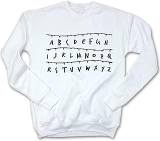 Alphabet Christmas Lights Ugly Christmas Sweatshirt   Sci-fi TV Show Holiday Apparel