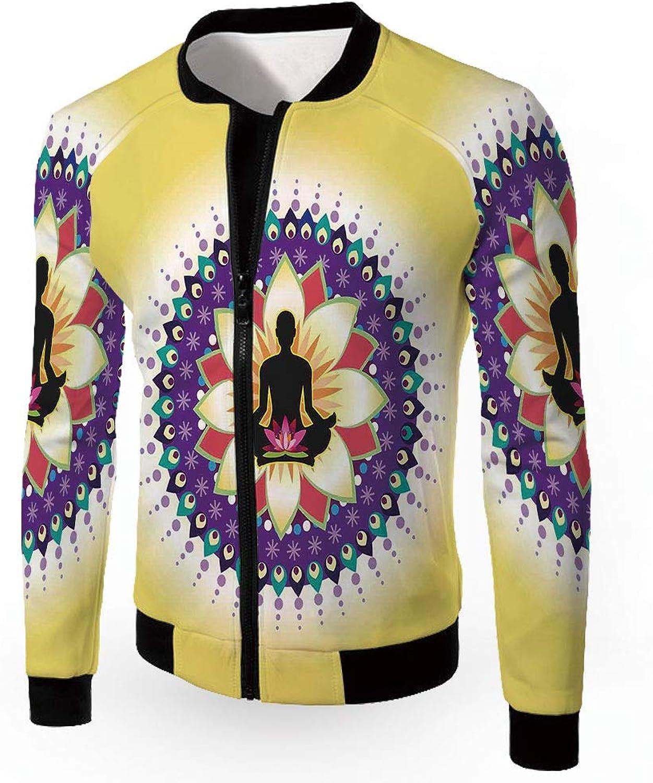 0210e1480 IPrint Stand Neck Jacket,Yoga,Men's Lightweight Zip-up Windproof Windproof  Windproof Windbreaker Jacket,YOG 624429