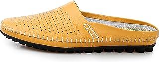 Mocasines de Piel Genuino para Hombre, Zapatos Informales, de Lujo, Mocasines, Transpirables, sin Cordones, Color Negro, para conducción, para Hombre