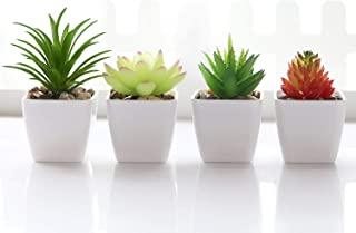 Veryhome Fake Succulent Plants Artificial Faux Succulents 4pcs Plastic..