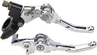GOOFIT Performance dembrayage et levier de frein Guidons Set pour 50cc 70cc 90cc 110cc 125cc Dirt Bike Bleu