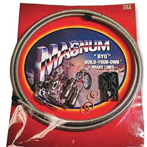 Magnum BYO Build-Your-Own DOT Single Disc Brake Line Kit with 6ft Brake Line - 90 Deg Banjo - Stainless 396790A