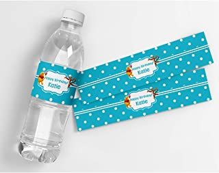 Winnie The Pooh Birthday Personalized Waterproof Water Bottle Labels