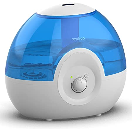 raydrop Cool Mist 2.2L Humidifiers for Bedroom, 28dB Whisper-Quiet Ultrasonic Humidifier, Easy to Clean Home Humidifier, Auto Shut-Off, 30H Work Time (Blue)