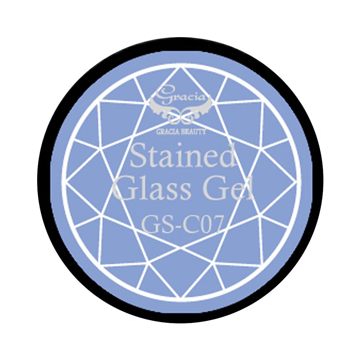 永遠の投資する先にグラシア ジェルネイル ステンドグラスジェル GSM-C07 3g  クリア UV/LED対応 カラージェル ソークオフジェル ガラスのような透明感