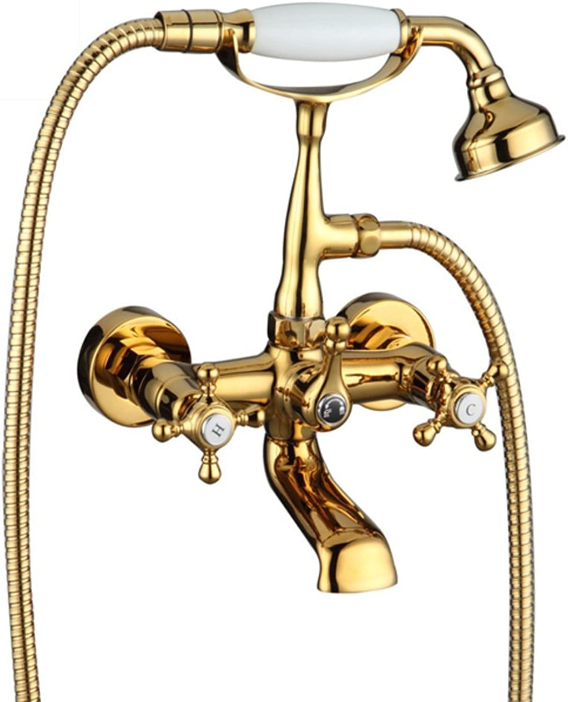 Copper Tank Side taps Wall-Mounted Bath Mixer Shower Mixer-A