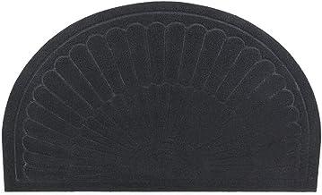 Half Round Entrance Door Mat Front Doormat Outdoor Rug Non-Slip Indoor Welcome Doormat for Entry Patio Low Profile Door Ma...