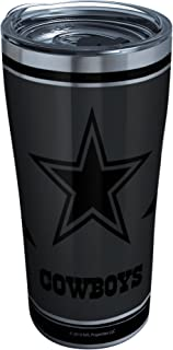 Tervis 1332208 NFL 100-Dallas Cowboys Stainless Steel Insulated Tumbler with Clear and Black Hammer Lid, 20 oz, Silver 20 ...
