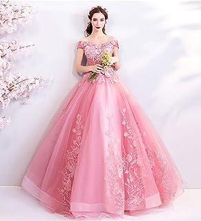 09f85c1c771 W&TT Tul de Las Mujeres Encaje Princesa Traje Flor Applique Fuera de  Hombros Cenicienta Prom Vestido