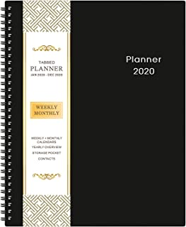 "2020 Planner – 9.2"" x 11"" Weekly & Monthly Planner with Inner Pocket,.."