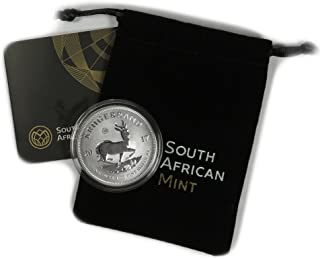2017 ZA South African Silver Krugerrand 1 oz R1 Premium Uncirculated South African Mint