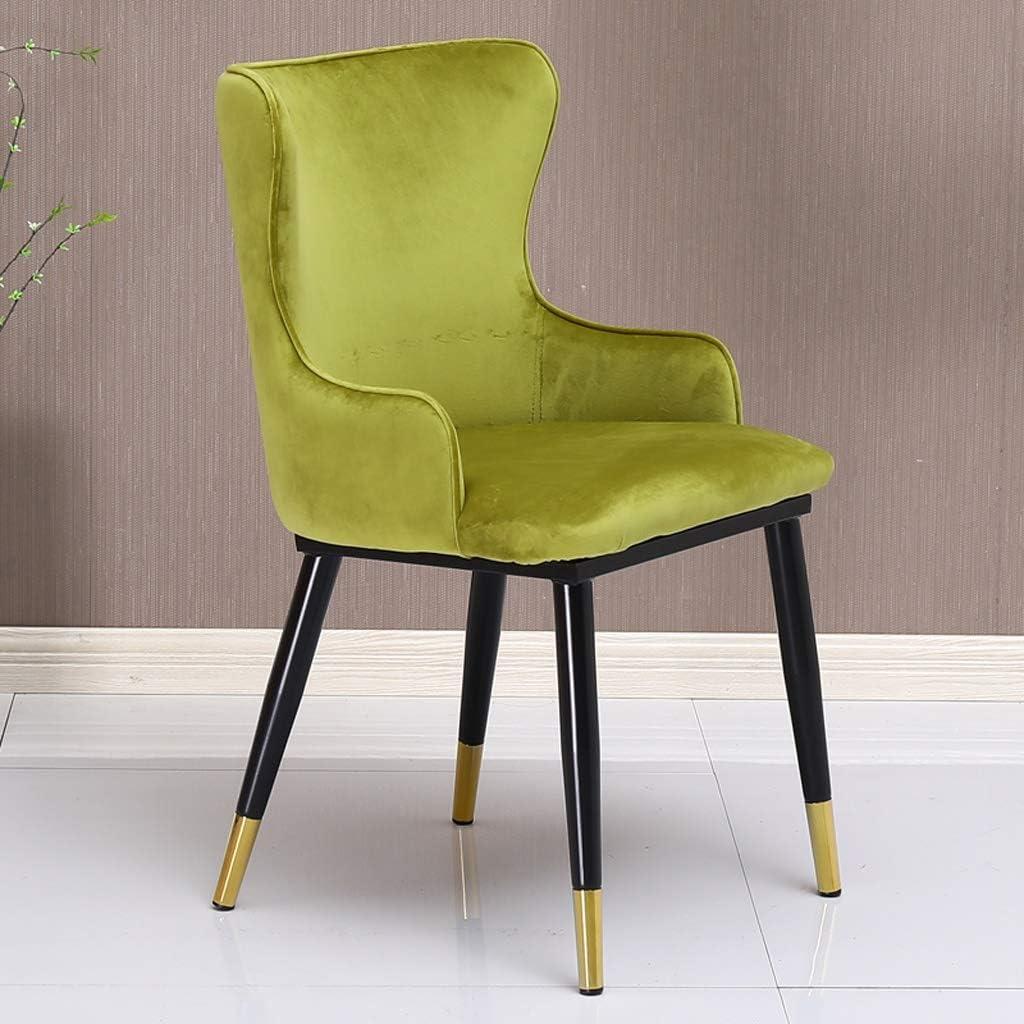 SLL- Chaise de Salle, Chaise de Bureau Simple, créative Dossier, Chaise Loisirs, Maison Adulte Chaise de Salle Moderne (Color : Red) Green