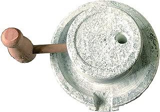 Gnirue Natural Bluestone Handmade Stone Mill/Grinder Mini (3.1Wx5.9L)