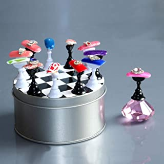 Nail Stand For Nail Art Tips Holder Practice Display Stand DeiGoods DIY Magnetic Stuck Crystal Nail Art Holder Chessboard ...
